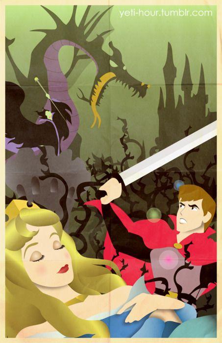 Aurora, Prince Philip and Maleficent - Sleeping Beauty