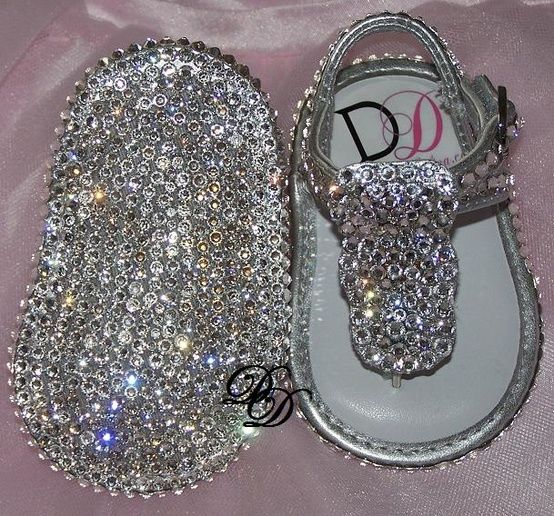 Baby Bling Shoes : Rhinestone Baby Shoes : Crystal Baby Shoes - Click image to find more DIY & Crafts Pinterest pins