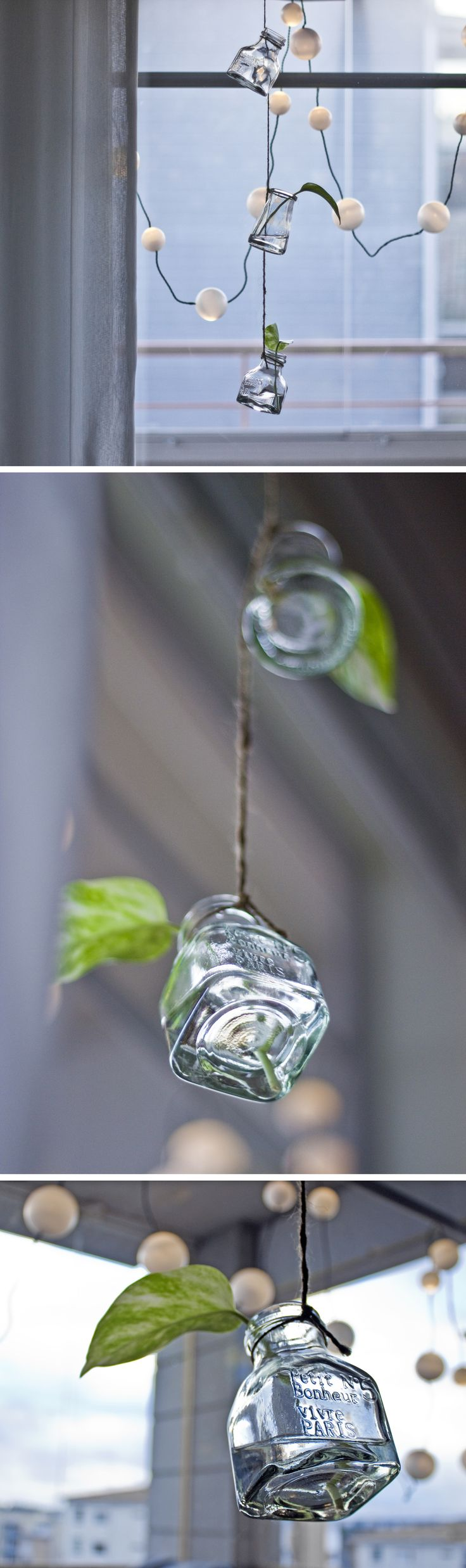 DIY hanging vases for little plants or flowers <3