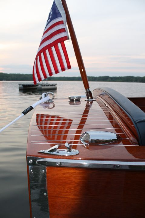 Chris Crafts and American Flags - Doesn't get much better than this