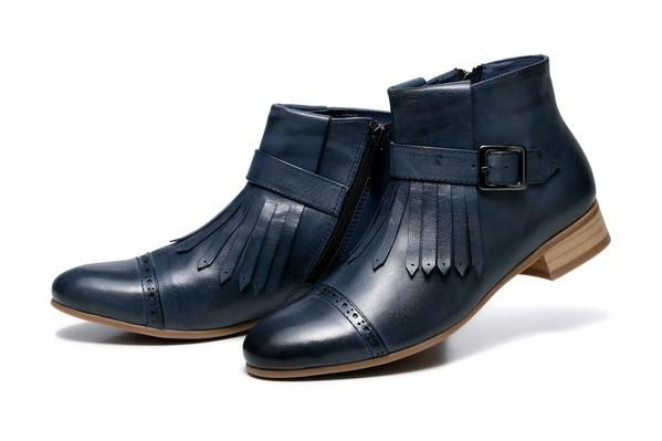 ladies genuine leather boots, good boots for women, ladies leather booties, stylish leather boots, boots on women, midnight blue boots, midnight blue boots.