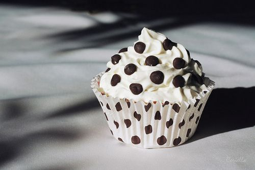 polka dot cupcake......these are really cute!