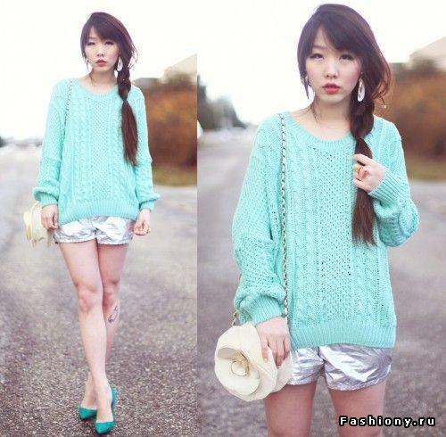 Мятная пастель на весенних улицах / одежда мятного цвета