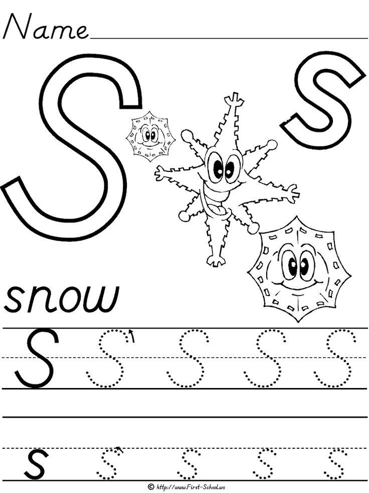 Best  Letter S Worksheets Ideas On   Preschool Letter