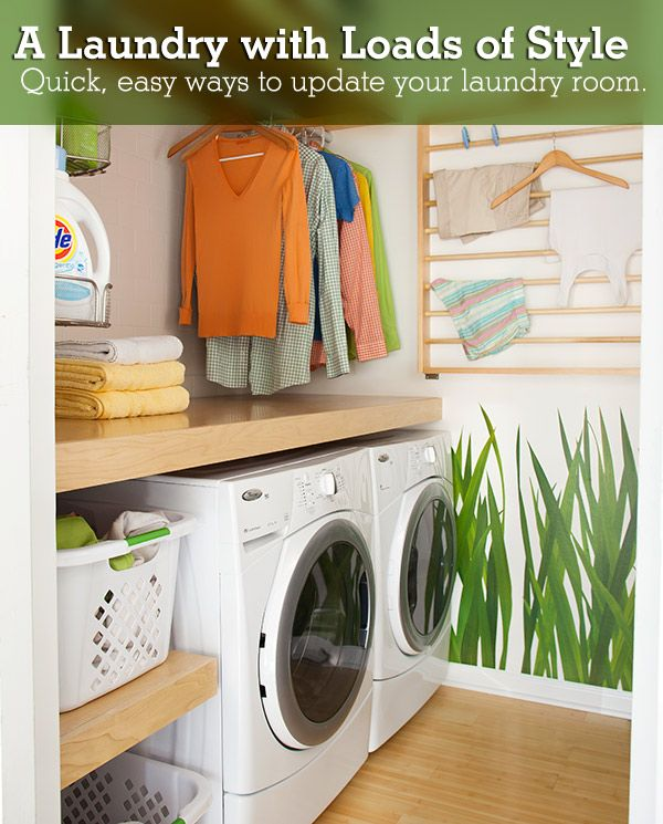 laundry room shelves ideas | ... it has green walls. But I love this idea and I love the shelving