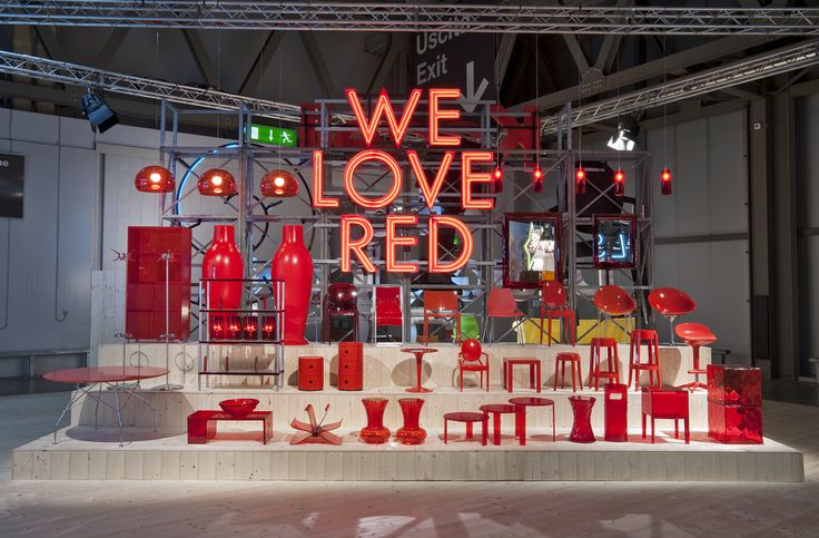 Kartell Red Stand at the Milan Furniture Exhibition