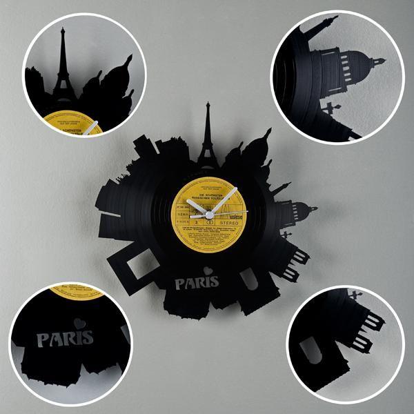 Pavel Sidorenko Paris clock. Made from vinyl