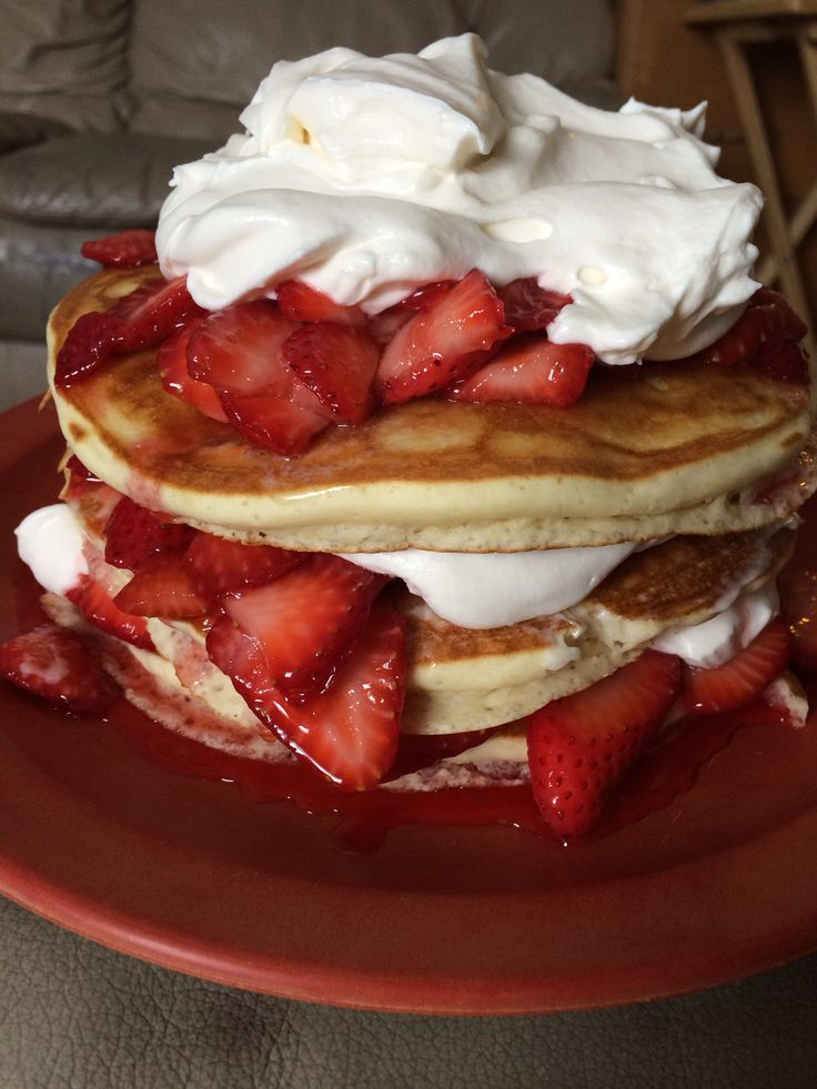 Fresh Strawberry Pancakes!