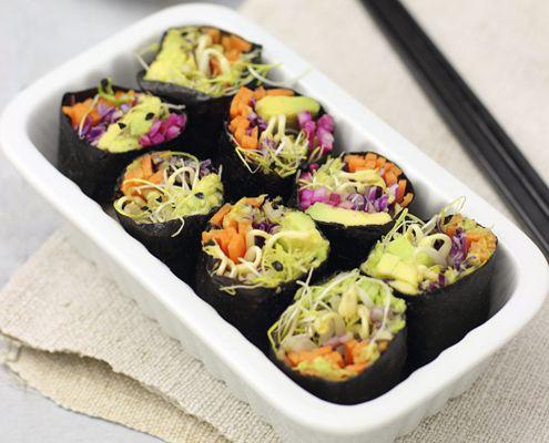 Gli involtini di alga nori con verdure e germogli è una ricetta light, ricca di gusto e con un tocco zen. Dimenticatevi del gas :)