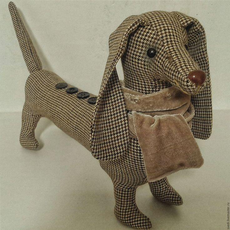 """Купить Собака-такса """"Бернадетт"""" - бежевый, собака, собака игрушка, такса, интерьерная игрушка"""