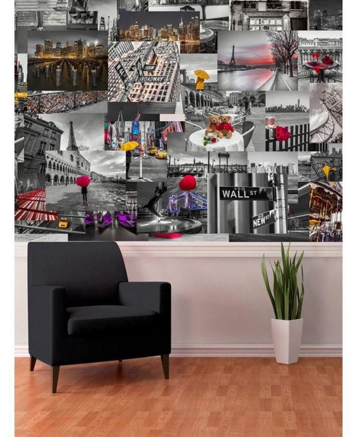 Create your own fantastic feature wall, completely unique to you, with this 64 piece Creative Collage City Scapes Designer Wall Mural! Using the selection of iconic images included you can come up with your own individual design tailored to suit you.