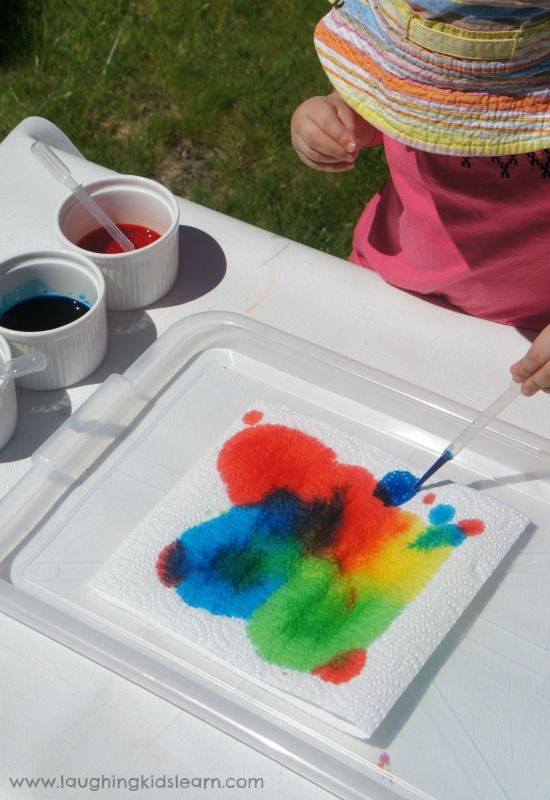 dropper toddler preschooler painting activity