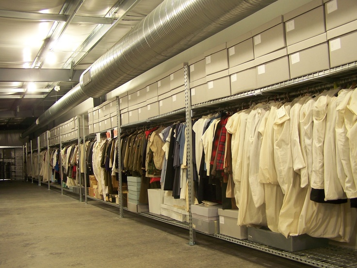 The McKinley Presidential Library & Museum recently opened a new storage wing. The textile and hat collections are shown here.