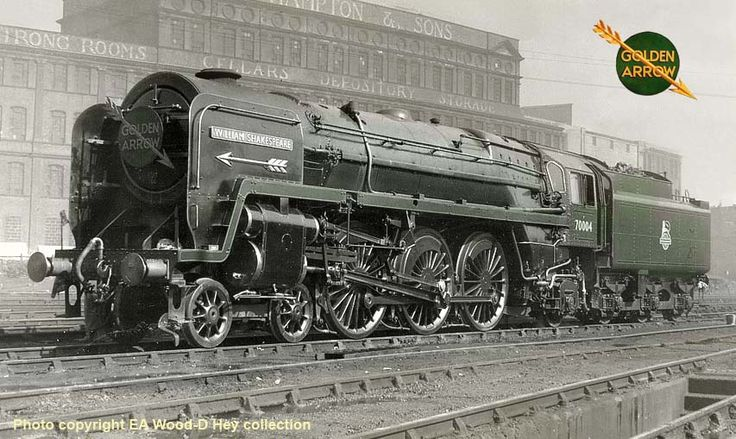 No 70004 William Shakespeare, which was displayed at the Festival of Britain exhibition in 1951. Thereafter it was kept in immaculate condition for hauling the 'Golden Arrow' and other boat train services to the continent