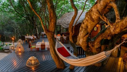 The gorgeous deck at Kosi Forest Lodge in the Kosi Bay Nature Reserve, KwaZulu-Natal, South Africa