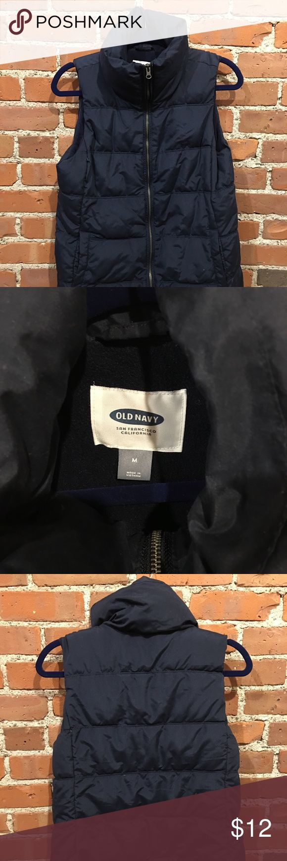 Cold weather navy blue vest Size M old navy cold weather vest. Only worn a few times, super warm, water resistant. Old Navy Jackets & Coats Vests