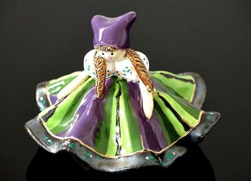 A bell doll (purple and green) - My Poland