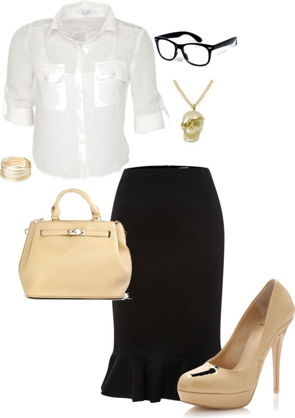 """Librarian"" by la-haaze on Polyvore"