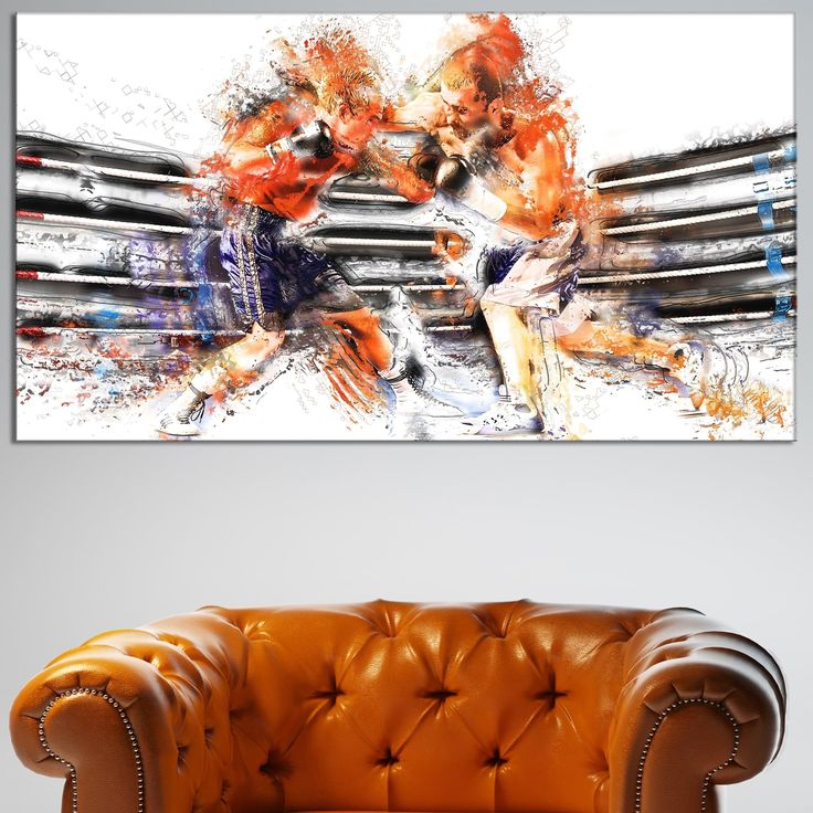 Design Art 'Boxing Round One' Canvas Art Print