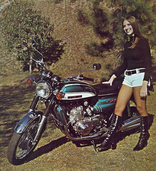 Suzuki GT 750  (BIKE and RIDER - march 1972)