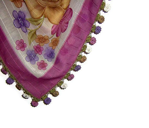 Traditional Turkish Yemeni Cotton Scarf With Lace by naryaboutique, $31.00
