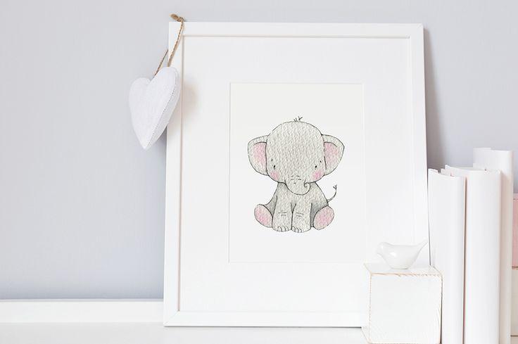 <!-- 002 -->Newborn Elephant Print