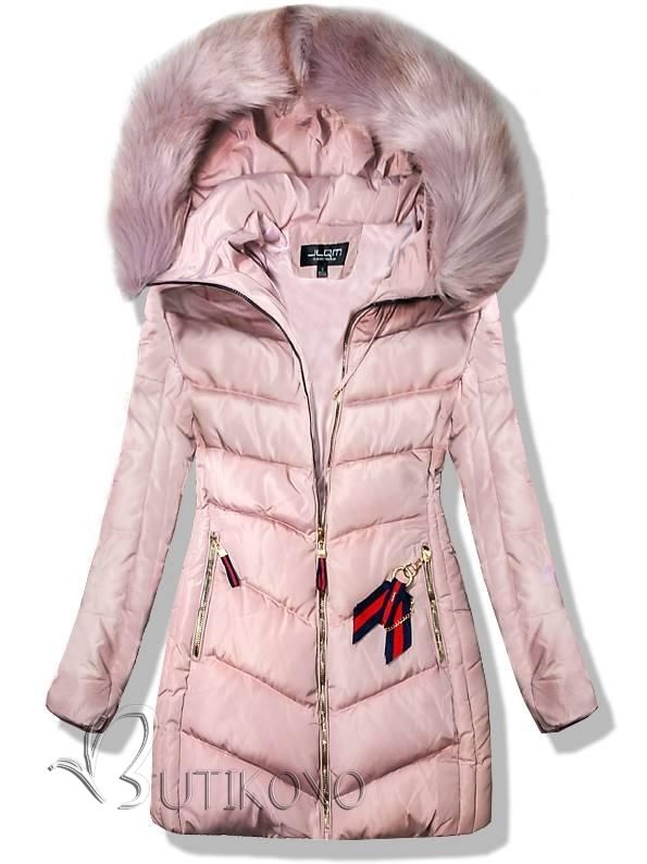 Ružová zimná bunda 819-66