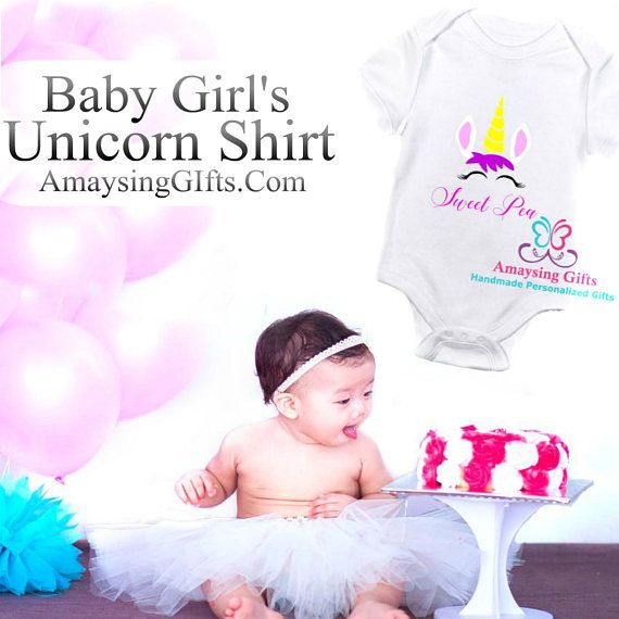 Baby girl unicorn shirt for sale. Finding the perfect unicorn outfit for the baby is so much fun. They are sure to look extra adorable in this unicorn design. This unicorn outfit is perfect for a unicorn theme birthday party or every day of the week! When you purchase this unicorn shirt, you can be sure you are getting high quality and an affordable gift that you will love. You are getting one baby girls unicorn bodysuit. This bodysuit is a 100% cotton, including the thread it is sewn in…