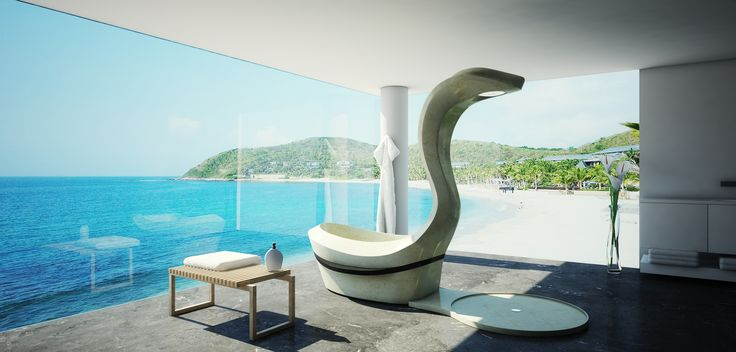 JUMAMBA ist ein Objekt mit Charakter, eine Hommage an die Versuchung und dem Streben nach Luxus und Einzigartigkeit. Als Dusch-Wannen-Kombination steht die gut 2,4 m hohe und 1,5 to schwere Schlange stolz im Raum. Von außen elegant und natürlich geformt, aus massivem JURA Marmor. In ihrem Inneren modernste Technik, handwerklich perfekt verarbeitet. Beheizbare Sitzflächen, edelste Armaturen und ergonomische Formen sorgen für das einzigartige Badeerlebnis.