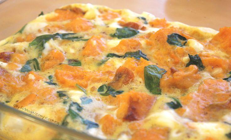 Jamien bataatti-pinaatti frittata - Cosy Cooking | Lily.fi