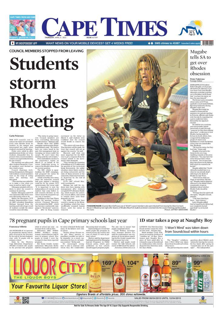 News making headlines: Students storm Rhodes meeting