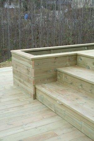 Image result for terrasse trapp og blomsterkasse