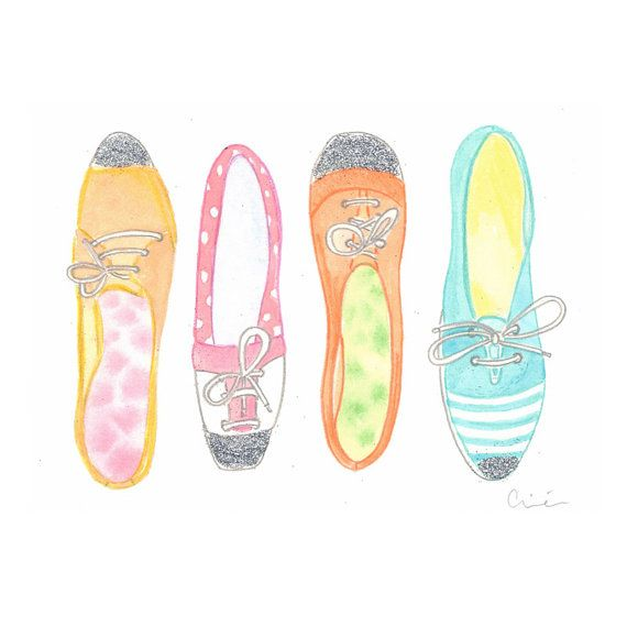 colorful+shoes by+illustrationsbyaimee