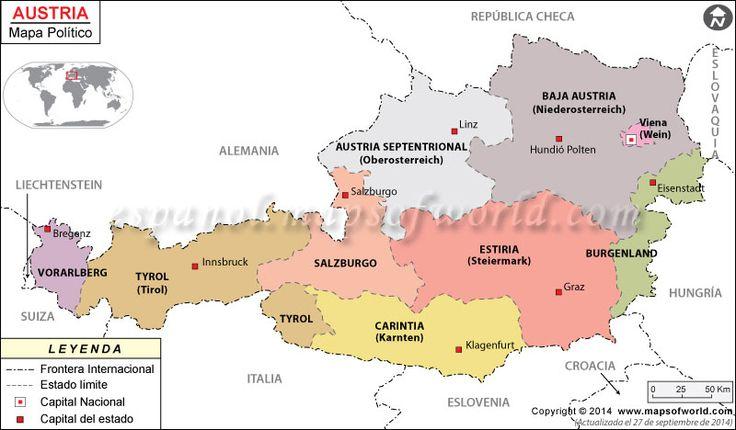 AUSTRIA: dividida en nueve estados federados (Bundesländer)