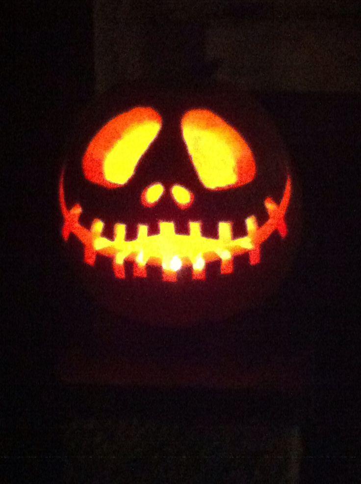 Jack Skelton pumpkin.  Halloween 2013.