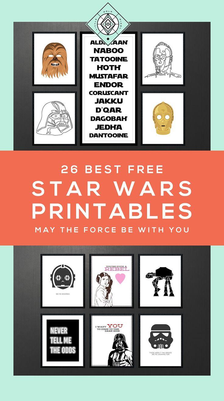 Free Star Wars Art Printables •Little Gold Pixel