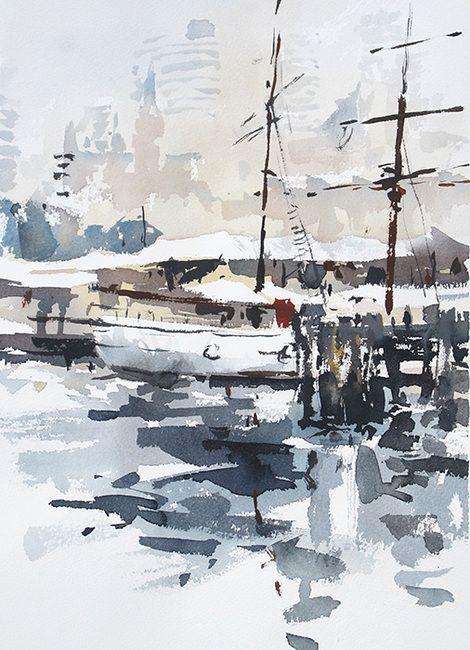Tony Belobrajdic , Tall Ship in SydneyHarbour 2 on ArtStack #tony-belobrajdic #art