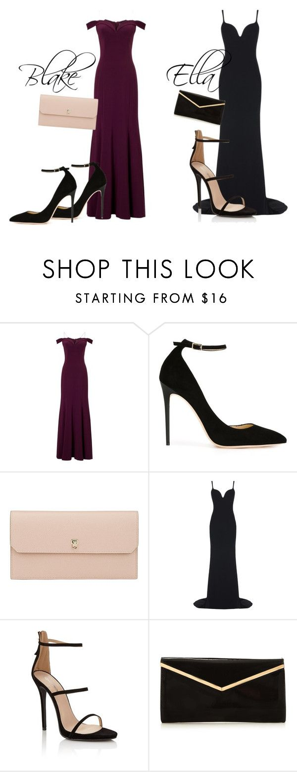 """Formal"" by grraciie-386 on Polyvore featuring beauty, Adrianna Papell, Jimmy Choo, Valextra, STELLA McCARTNEY and Lipsy"