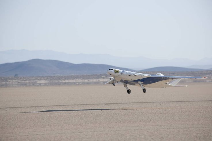 Blended Wing Body Aircraft Lifts Off