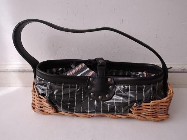 ebagos エバゴス 籐×ビニール使いバッグ (eb80-1510-106)