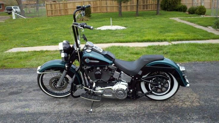 Custom Softail with Ape Hangers | 02 Heritage Softail Classic Gangster. lots of pics - Page 3 - Harley ...