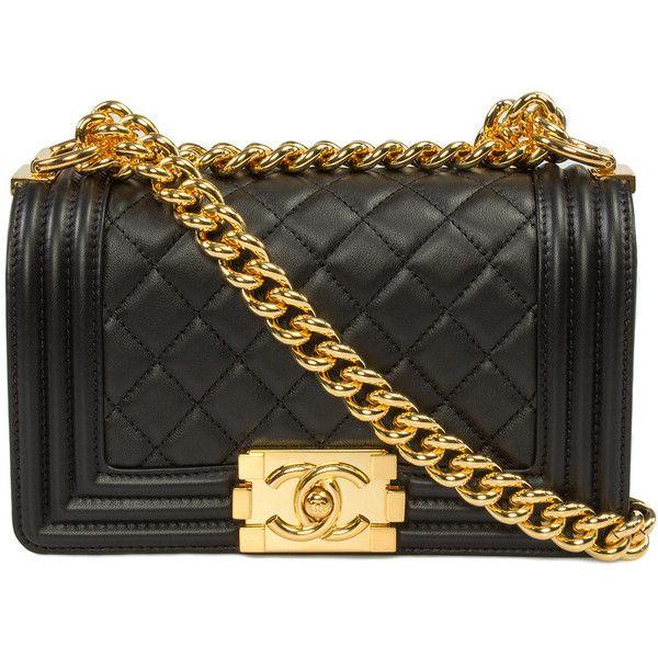 021deae3b21b6b Chanel Boy Quilted Flap Bag found on Polyvore featuring bags, handbags,  chanel, black, handbags & purses, purse pouch, crossbody purse, man…
