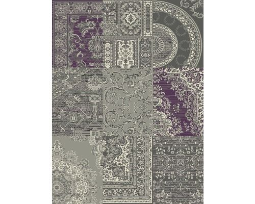 Vloerkleed Patchwork grijs/rood 160x230 cm kopen bij HORNBACH