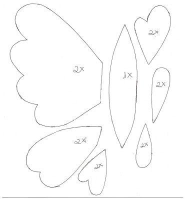 chaveiro borboletas em feltro - Pesquisa Google
