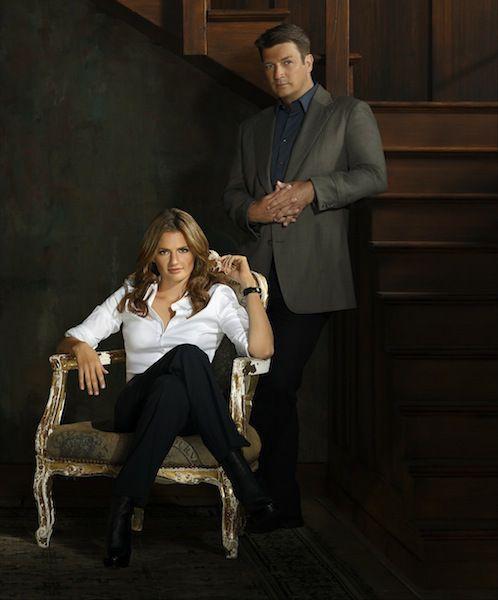 Stana Katic and Nathan Fillion-  Castle Season 6