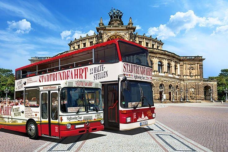 Große Stadtrundfahrt Dresden - 22 Haltestellen inkl. Stadtführungen