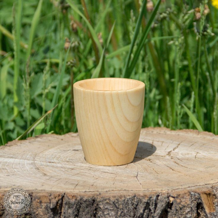 Wooden Drinking glass for Herbal tea or other NATURAL SIBERIAN CEDAR wood #СН2 by ArtOfSIberia on Etsy
