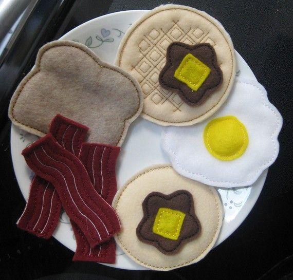 Felt Playfood Breakfast Pattern Set - Machine Embroidery Designs