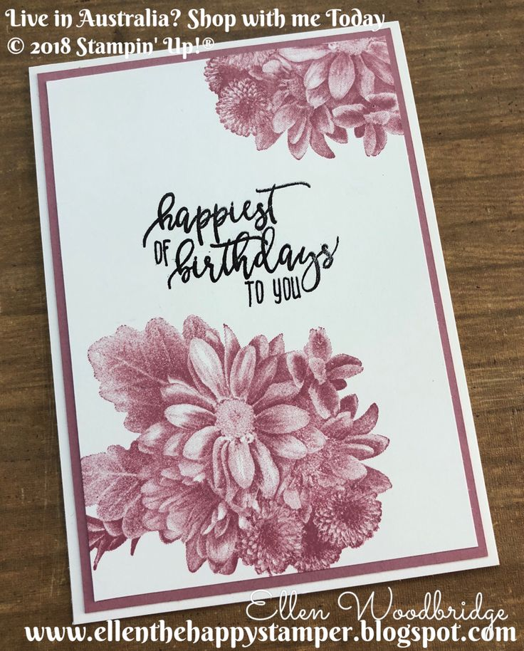 Which card are you always lacking? For me it is birthday cards and sometime the simplest ones are the best. I have used theHeartfelt Bloom...