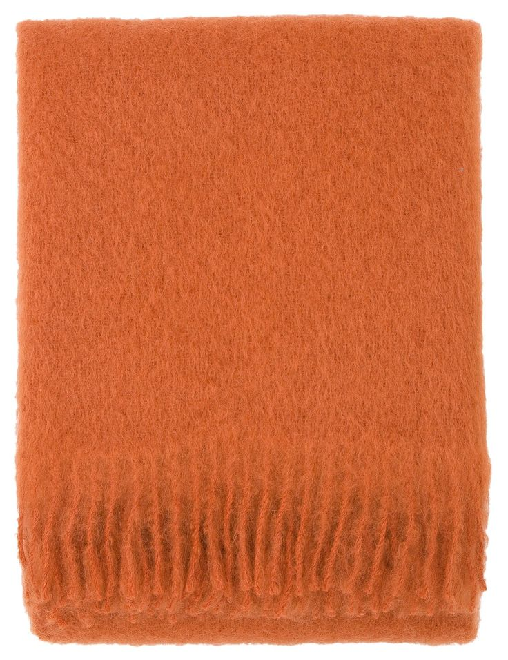 LAPUAN KANKURIT SAAGA UNI MOHAIR BLANKET, ORANGE